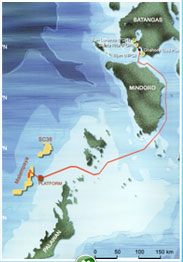 Malampaya - from Palawan to Luzon.  Click to enlarge