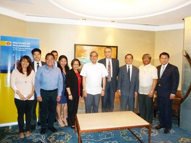 In photo are [from left to right] Malampaya Project Communications Advisor Christine Guison, Standard Chartered Associate Director Tom Lu, Shell Upstream Communications Manager Paulo Gavino, Standard Chartered Director Scott Wong, BSP Acting Bank Officer V Rica Amador, BSP Acting Executive Director Editha Martin, Shell Philippines Country Chairman Edgar Chua, Standard and Poor's Associate Director Agost Benard, Standard and Poor's Director Takahira Ogawa, SPEX Managing Director Sebastian Quiniones and SPEX Finance Manager Jeng Pascual.