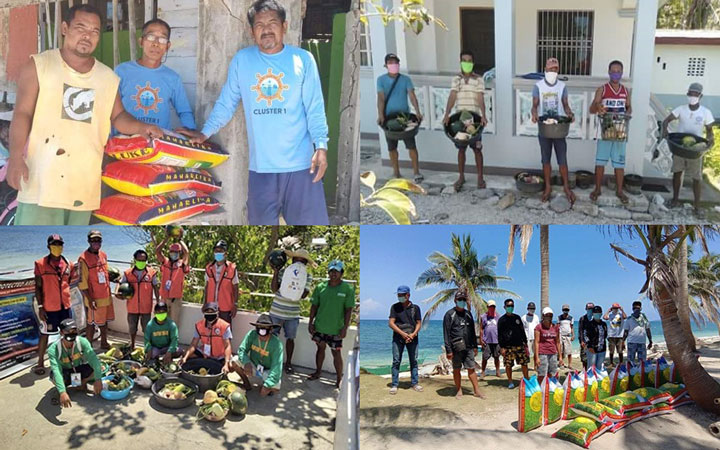 Malampaya Foundation donates food packs and produce to rangers